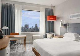 King Junior suite Hilton Rotterdam slaapkamer