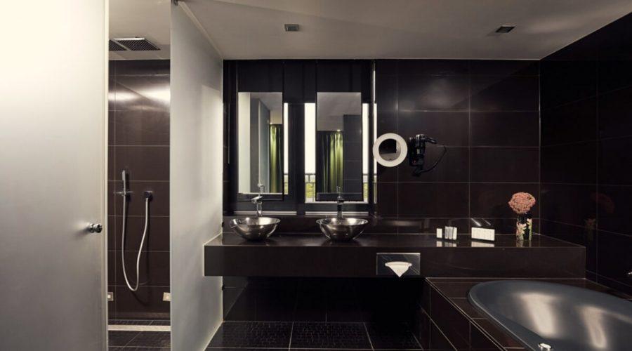 Penthouse Suite Ebony Hotel Eindhoven badkamer