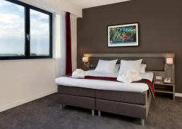 Senior suite Wings Hotel Rotterdam Airport kingsize bed